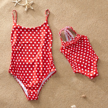 559a948655b Retro Red Dot One-piece Swimsuits for Mommy and Me