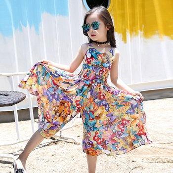 Colorful Butterfly Pattern Jumpsuit