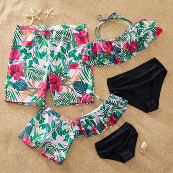 Blooming Flower Print Family Swimsuits