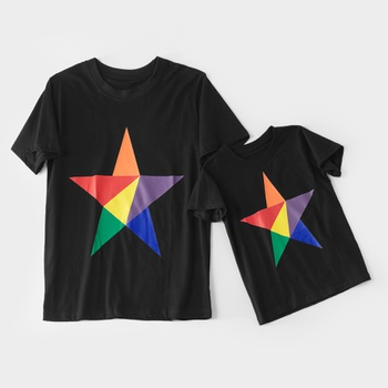 1fa469d8 Multicolor Star T-shirt for Daddy and Me