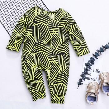 Cool Striped Long-sleeve Jumpsuit for Baby Boy