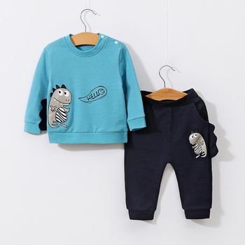 a12d69200 2-piece Stylish Dinosaur Print Long-sleeve Top and Pants Set for Baby