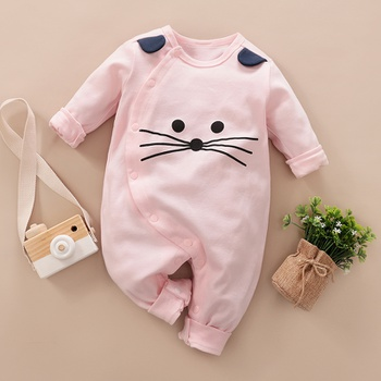 Lovely Mouse Design 3D Ear Long-sleeve Jumpsuit for Baby