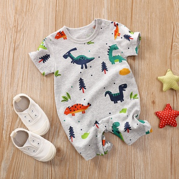 Baby Boy  Dinosaur Print Short-sleeve Romper
