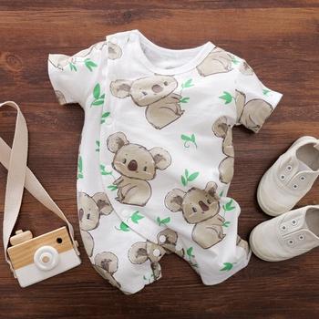 Baby Stylish Koala Allover Short-sleeve Romper