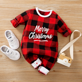 Baby Christmas Plaid Jumpsuit