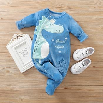 Baby Dinosaur Fleece Jumpsuit