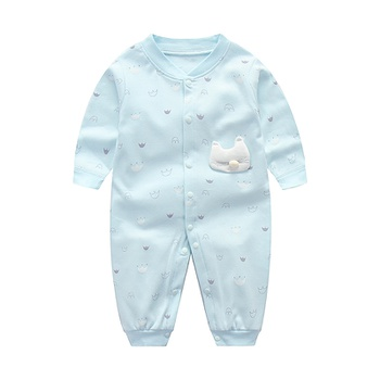 262b96165 Baby Boy Bee Applique Long-sleeve Jumpsuit