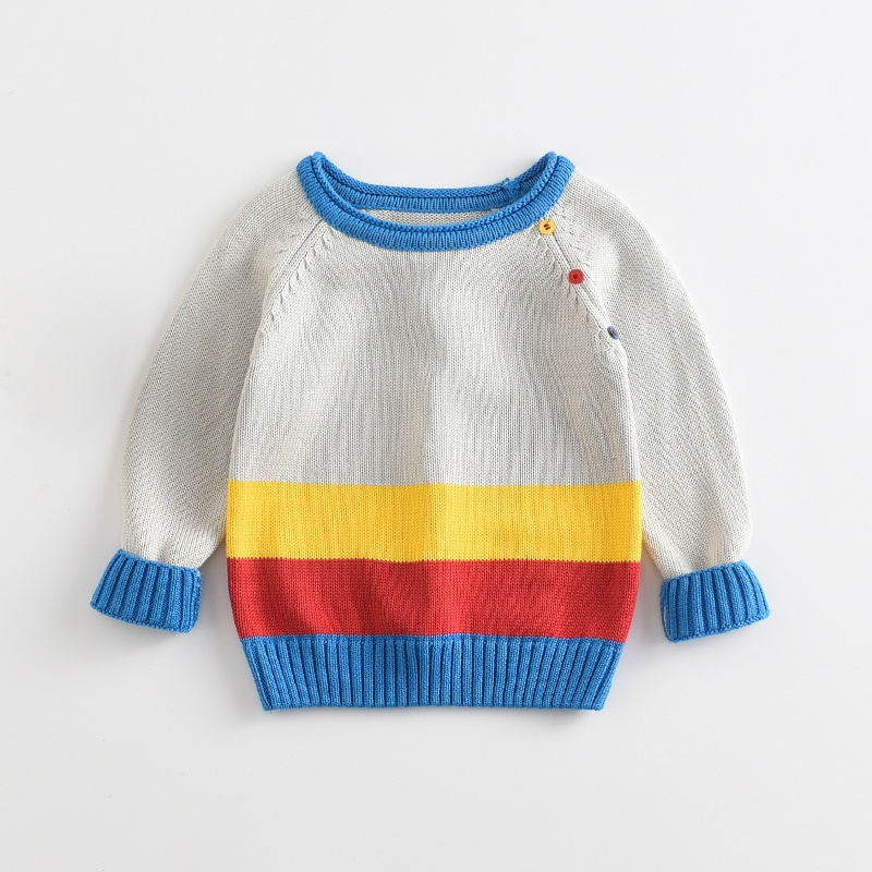 895a861bd Baby Stylish Color-blocking Knitted Sweater for Baby Boy and Boy at ...