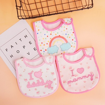 1Pcs Adorable Cotton Baby Bibs Newbron Toddler Kids Burp Cloth Feeding Apron Baby Saliva Towel Scarf Bandana Bibs Baby Stuff