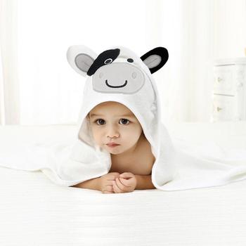 Cartoon Hooded Animal Baby Bathrobe Cotton Baby Spa Towel kids bath robe infant beach towels