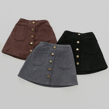 Fashionable Solid Corduroy Skirt for Baby and Toddler