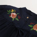 Stylish Floral Embroidered Puff-sleeve Blouse for Toddler and Kid
