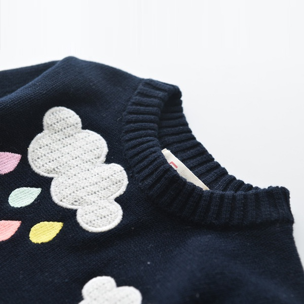 Cool Rainbow Cloud Knitted Long-sleeve Sweater for Toddler and Kid