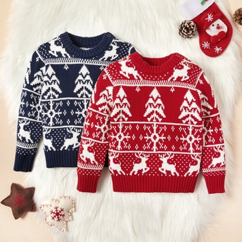 Baby / Toddler Christmas Elk Long-sleeve Sweater