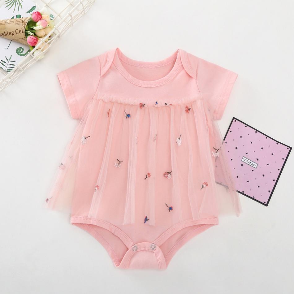 85efa2d69adea Baby impression adorable fleur manches courtes barboteuse pour bébé fille  at PatPat.com
