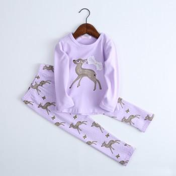 Comfy Deer Dotted Print Pajamas for Toddler and Kid