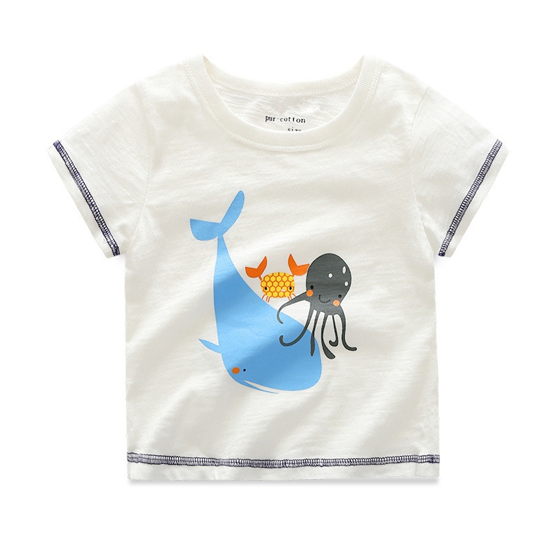 Toddler Cute Sea Animal Print Short Sleeves Tee for Boys at PatPat.com 764ae5eb0