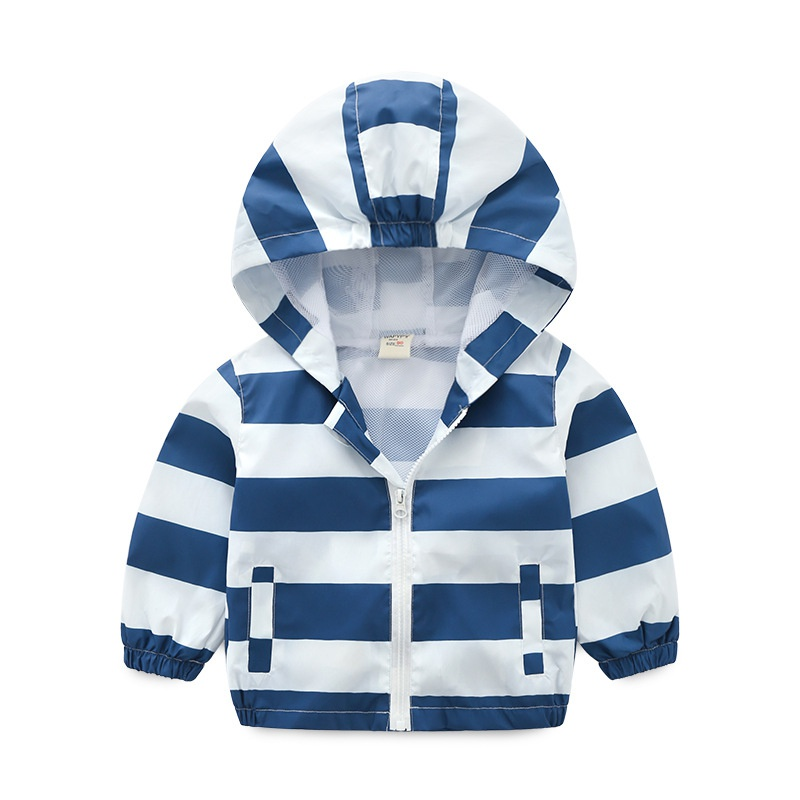 d99177988359 Toddler Stylish Striped Color-blocking Hooded Jacket for Baby and ...