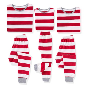 Comfy Red Stripe Family Matching Pajamas Set