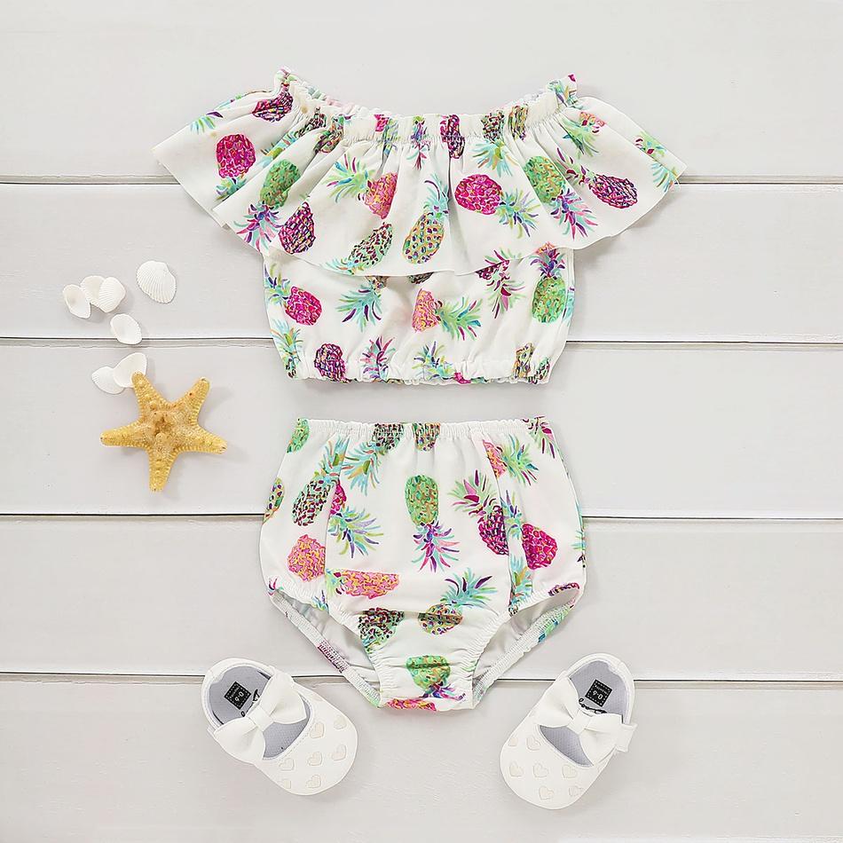 83565bc68 Toddler bebé   piña de impresión superior y pantalones cortos de natación  de la muchacha del niño at PatPat.com