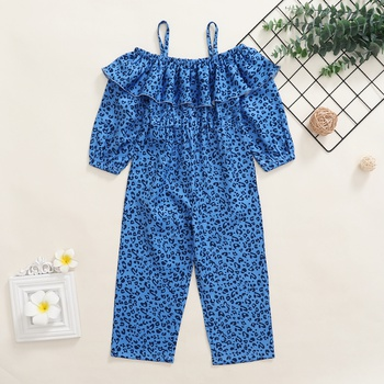 Toddler Girl Leopard Wide Trousers Jumpsuit