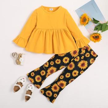 Toddler Girl Sweet Sunflower Sets