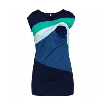 Sassy Color Blocked Short-sleeve T-shirt