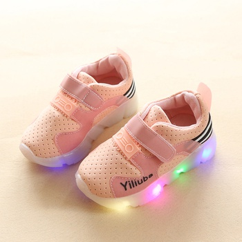 Solid LED Slip-on Shoes for Kids