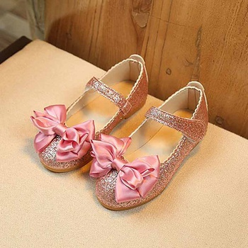 9ada6d8a0bf2 Charming Bowknot Decor Glitter Flats for Girls