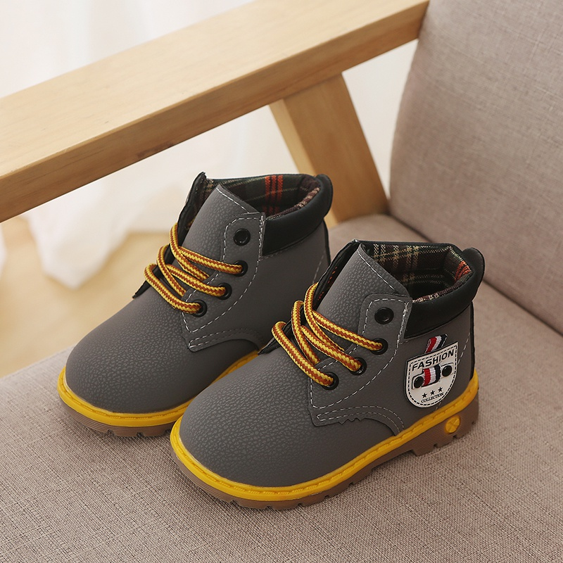 8e1ee718f Toddler Trendy Anti-slip Lace-up Boots for Toddler Boy and Boy at ...