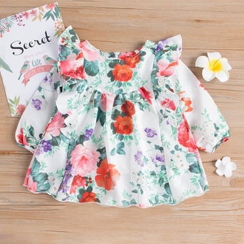 8aafc578eda Pretty Floral Long-sleeve Dress for Baby and Toddler