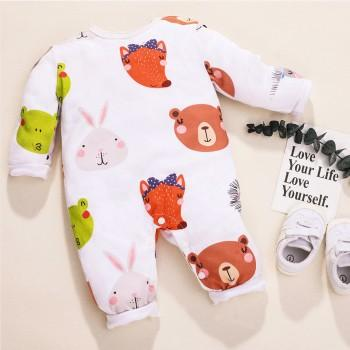 Pretty Animal Design Long-sleeve Jumpsuit for Baby