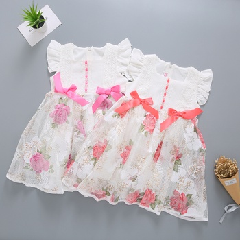 Fashionable Princess Sleeveless Dress for Girl