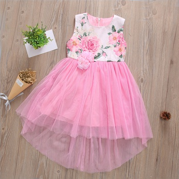 Beautiful Floral Sleeveless Dress for Girl