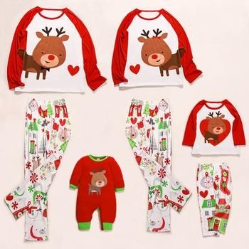 Christmas Deer Printed Matching Pajamas for Family matching