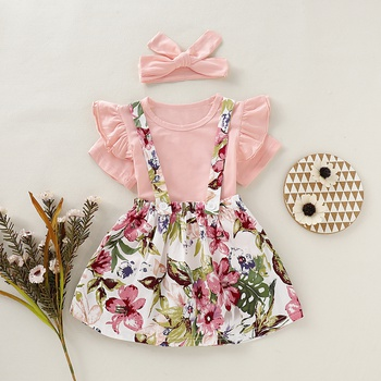 b9bf551d6 Baby / Toddler Ruffled Floral Dress and Headband