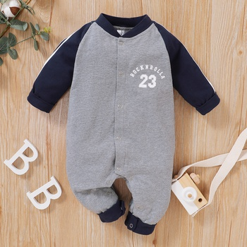 Baby Sporty Letter Jumpsuit