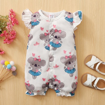 Baby Adorable Koala Print Bodysuit
