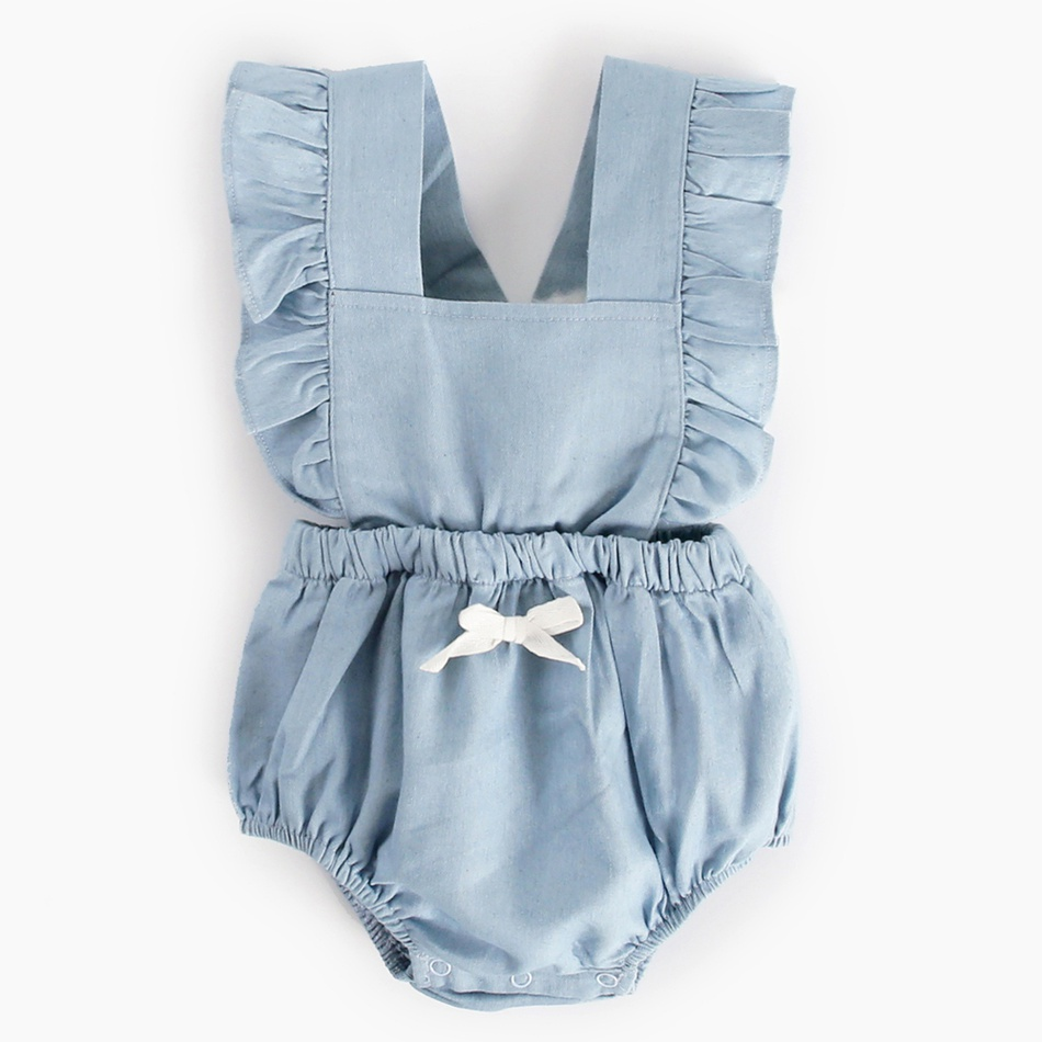 e09a7c00f Baby Pretty Solid Ruffled Backless Romper for Baby Girl at PatPat.com