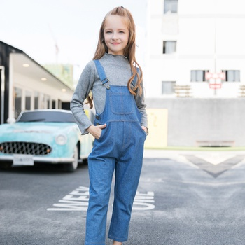 Trendy Pocket Design Denim Overalls for Toddler and Kid