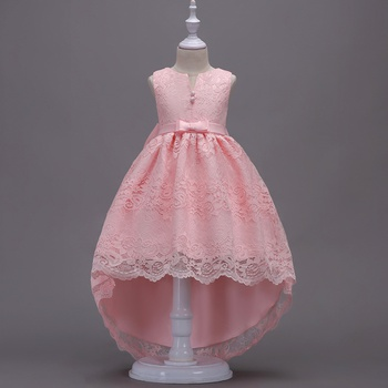 ca3f093e2a78 Girl's Elegant High-low Lace Party Dress Wedding Dress