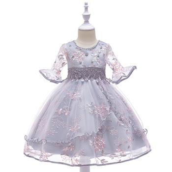 a451c4d3002 Fairy Flower Embroidered Wedding Dress for Toddler Girl