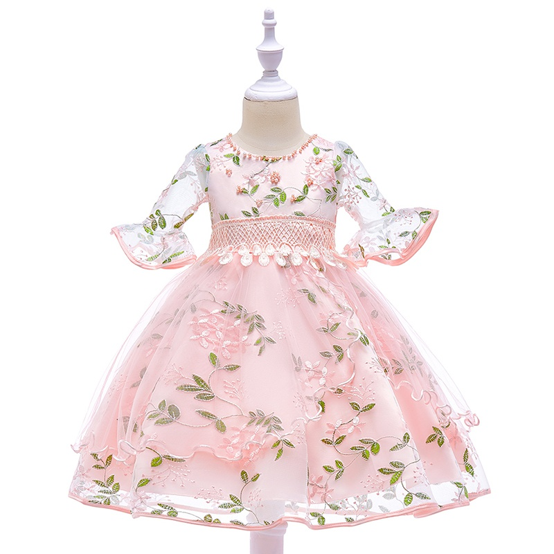 3fce465299e Baby Fairy Flower Embroidered Wedding Dress for Toddler Girl at ...