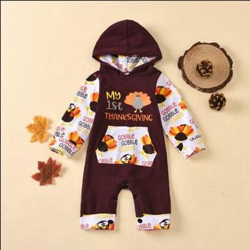 Baby Turkey Hooded Jumpsuit