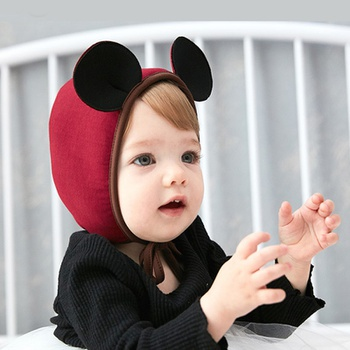 6901cc6b87a Baby s Adorable Solid Mouse Design Earmuffs Hat