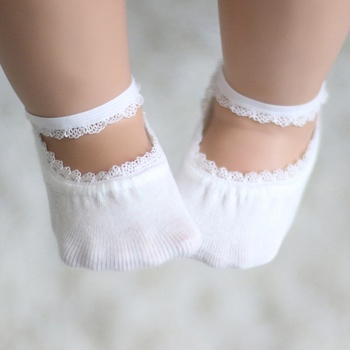 Stylish Solid Lace Design Invisible Socks