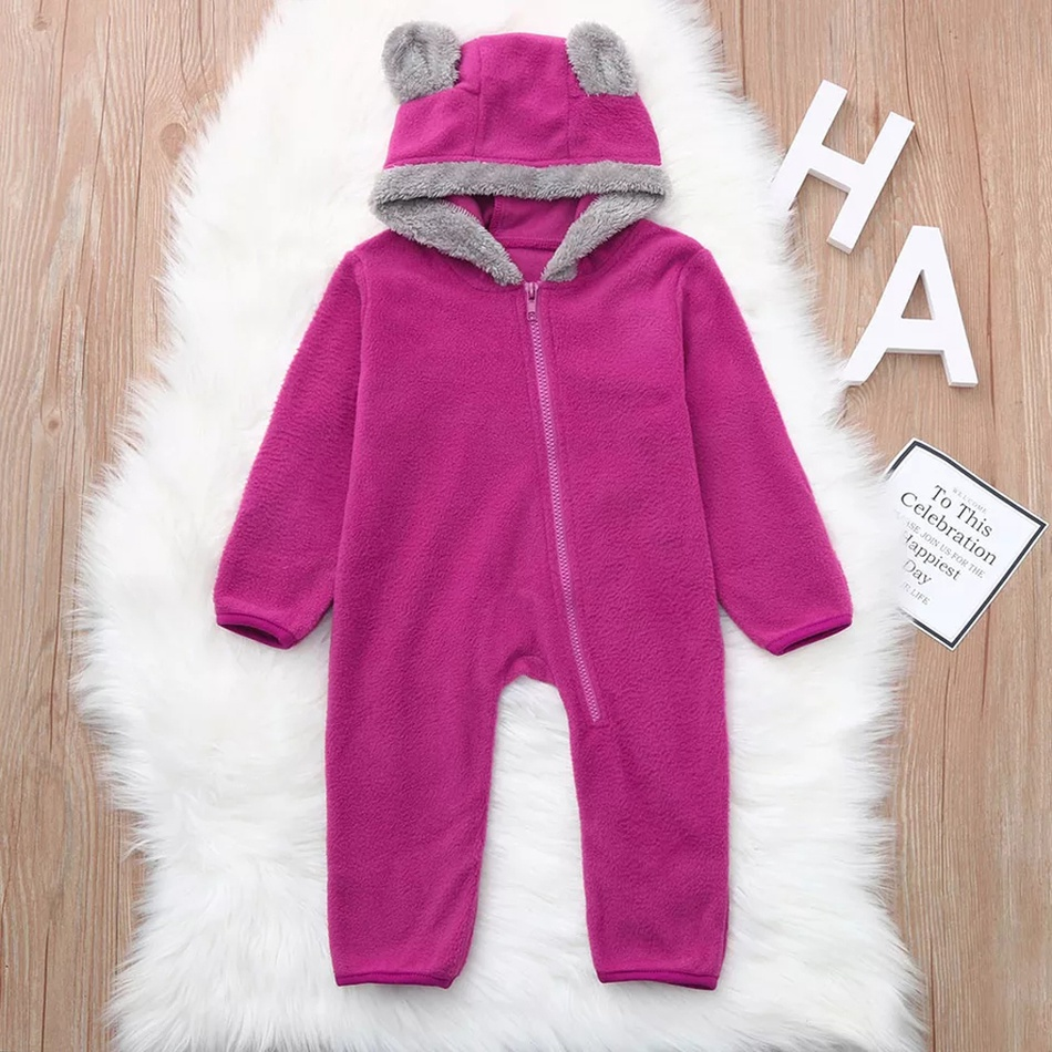 829a49b53f7c Baby Baby s Bear Design Polar Fleece Jumpsuit at PatPat.com