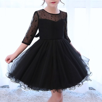 58a4cc1d937 Pretty Half Slevees A-line Tulle Party Dress for Girl
