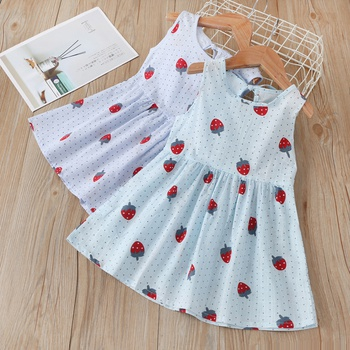 Baby Strawberry Allover Print Dresses
